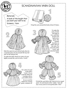 I've found this makes a good base for a string/voodoo style doll. Use a square drinks coaster as a template and wrap the string fewer times for the base skeleton, then wrap the doll as you usually would.