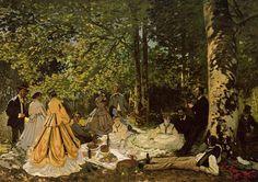 Картина Завтрак на траве, Клод Моне