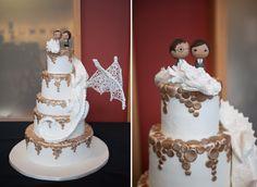 A Real Geek Chic Wedding #geekwedding #geekcakes