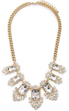 FOREVER 21 Faux Gemstone Statement Necklace