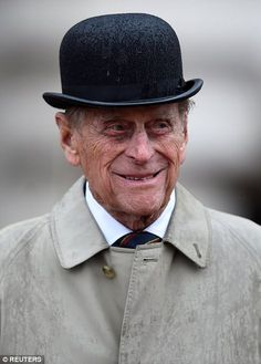 The Duke of Edinburgh met Royal Marines at Buckingham Palace who have completed a mammoth mile trek on Wednesday - his final official royal event before he retires. Elizabeth Queen Of England, Elizabeth Philip, Queen Elizabeth Ii, Royal Navy Officer, Royal Marines, Prinz Phillip, Harry Windsor, Royal Family Portrait, Queen And Prince Phillip