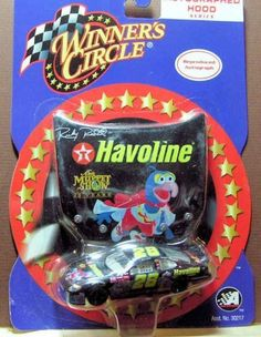 2002 NASCAR Winner's Circle . . . Ricky Rudd #28 Havoline The Muppet Show Ford Taurus 1/64 Diecast . . . Reproduced Autographed 1/24 Hood Series by Winner's Circle. $6.99. WINNERS CIRCLE HOOD SERIES #28 MUPPETS RICKY RUDD MIP