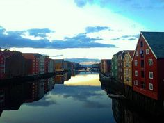TRONDHEIM - Norway's third largest city is a must visit on any Norway itinerary.  The city is vibrant due to the large student population here. . This is the view from the old town bridge in which you can see some of the historic buildings built along the waterfront. . --- . Old Town Bridge Trondheim Norway . --- . . . . . . . . . . . . . #trondheim #norway #scandinavia #norge #europe #history #historic #buildings #oldtownbridge #visitnorway #architecture #awesomenorway #amazingplaces…