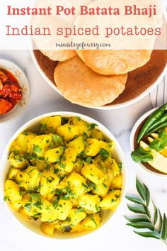 This is the Easiest way to make batata bhaji, with multiple steps cut down into one easy recipe to make delicious spicy potatoes with ginger Healthy Indian Recipes, Best Vegetarian Recipes, Curry Recipes, Quick Soup Recipes, Easy Chicken Recipes, Fall Recipes, Instant Pot Curry Recipe, Healthy Appetizers, Pressure Cooker Recipes