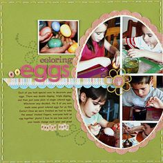 easter scrapbooking ideas | Easter Scrapbook Pages: Egg Collage Easter Page