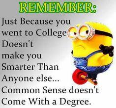 College degree vs common sense