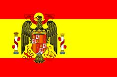 This was the flag of Spain after the civil war in the 1930s until shortly after Franco's death in 1975.