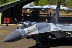 Su-27s in Darwin Australia for the six nation 'Pitch Black 2012' military exercise