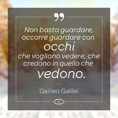 Galileo Galilei è stato uno scienziato, fisico, filosofo, astronomo, matematico, ma anche un grande scrittore... #frasi #aforisma #salmoiraghieviganò #salmoiraghi #occhi #eyes #aforismi #vista #galileogalilei