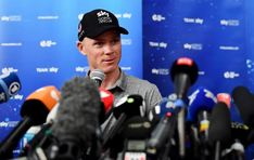 Chris Froome (Team Sky) meets with the press ahead of the Grand Depart at b96d12025