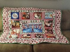 Elf on the Shelf Lap Quilt by FabricatedQuilts on Etsy, $120.00