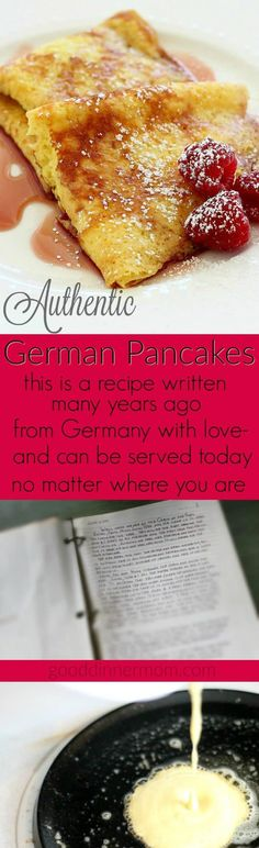 German Pancakes These are the real deal. German Pancakes, not Dutch Babies, baby~These are the real deal. German Pancakes, not Dutch Babies, baby~ Baby Food Recipes, Dessert Recipes, Cooking Recipes, Food Baby, Crepe Recipes, German Desserts, German Recipes, Austrian Recipes, Dutch Recipes