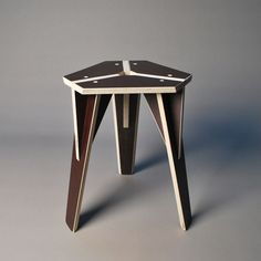 Jerome Dumetz Tabouret Plywood Chair, Wood Stool, Plywood Furniture, Chair Design, Furniture Design, Luxury Furniture, Folding Furniture, Wood Joints, Cnc Wood