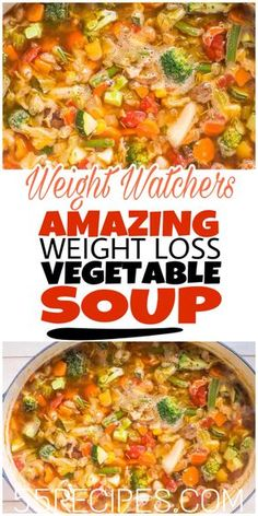 Weight Watchers Soup Recipes with Smartpoints - Easy WW Freestyle. Looking for the best Weight Watchers Soup Recipes with Points? I've got an amazing collection of delicious and healthy WW Freestyle soup recipes. Plats Weight Watchers, Weight Watchers Soup, Weight Loss Soup, Weight Loss Meals, Weight Watchers Cabbage Soup Recipe, Weight Loss Vegetable Soup Recipe, Weight Watchers Vegetarian, Ww Cabbage Soup Recipe, Weight Watchers Brownies