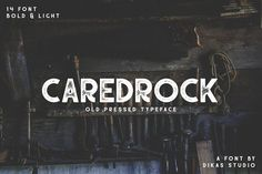 Caredrock - 14 Fonts Style + Extras by DikasStudio on @creativemarket