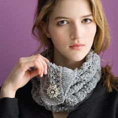 Silver Streak Cowl by Cathy Carron by Cathy Carron #free
