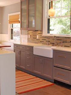 Sparrow Benjamin Moore On Cabinets Design, Pictures, Remodel, Decor and Ideas    Kitchen Island?