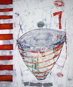 """EMPTY VESSEL""- Oil & Cold Wax on Gallery Wrap Canvas by Cristina Del Sol- Has been selected as a finalist in the Abstract/Experimental category of The Artist's Magazine 31st Annual Art Competition to be published in December 2014."