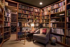 casual library in home