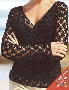 Spring / fall women crochet blouse MADE TO ORDER door AsDidy