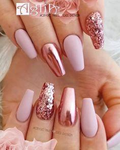 Gel design on Sice venku d mrz, no my u toume po jaru Krsn, n. Gel design on Sice venku d mrz, no my u toume po jaru Krsn, nov NATURE 1 color g - Crome Nails, Gold Acrylic Nails, Rose Gold Glitter Nails, Pink Chrome Nails, Blush Pink Nails, Acrylic Art, Glamour Nails, Nagel Gel, Stylish Nails