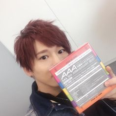 "ai-da-ice: "" Sota twitter update: We listened to this in our dressing room right away! ! ! ! Today is the launch of AAA-san's album, ""10th ANNIVERSARY BEST"" Seriously, I love these songs! ! ! I want..."