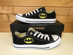 4fee2fb2eeb7dd Batman Low Top Converse  converse  customconverse  batman  marvel   batmanconverse  superhero