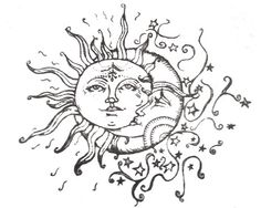 I've Been Searching For The Perfect Sun/moon Drawing For A Tattoo And I've Finally Found One! Thank Youuuu - Tattoo Ideas Top Picks Tattoo Mond, Tattoo L, Tatoo Art, Star Tattoos, Love Tattoos, Body Art Tattoos, New Tattoos, Awesome Tattoos, Sun And Moon Drawings