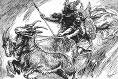 'Thor and Tyr in their Goat-Drawn Chariot', 1925.