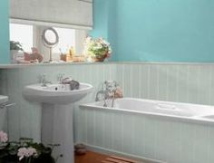 20 Bathroom Paint Colors To Inspire Your Redesign: Bluish-Green Color Range for a Seaside Feel