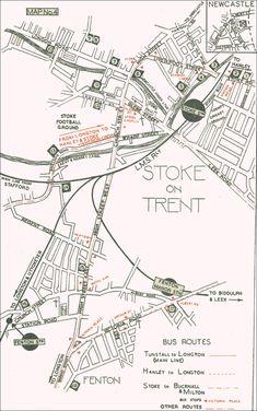 Stoke & Fenton Potteries in 1947 inc biltons