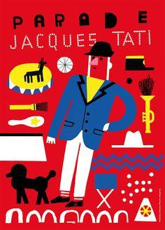 Parade por Madalena Matoso. Jacques Tati. 6 Carteles creados por ilustradores portugueses, 2016