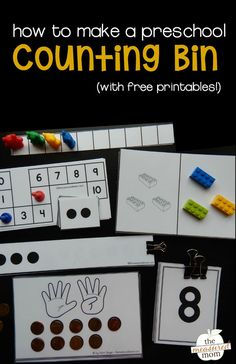 Teach counting to ten with these simple activities and free printables!