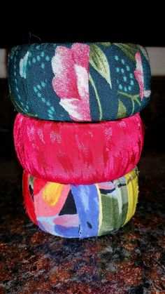 Use fabric scraps to upcycle plastic bangle bracelets into something fun and new! ----------- Creating Virginia Anne: Memory Bangles - DIY + So EASY!