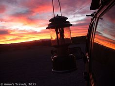 Sunrise over HD-1, a backcountry car-friendly campsite in Big Bend National Park, Texas