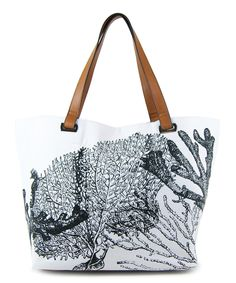 White & Black Coral Reef Aimee Tote | something special every day