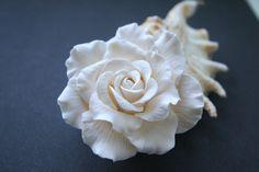 Ivory rose - Bridal hair flower, Wedding hair flower, bridal hair clip, rose hair, Wedding hair accessories, bridal hair accessories
