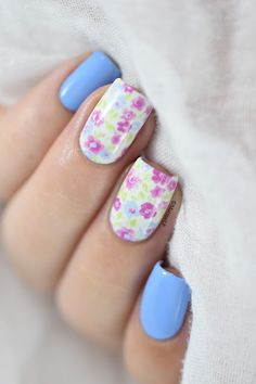 Marine Loves Polish: Liberty nails - floral water decals nail art