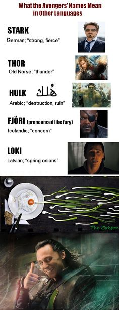 I feel I have vastly improved the existing meme! The name meanings part is nothing to do with me, although I did change the Loki image to a more appropriate one, but as soon as I saw it, I just knew I had to add the last two images (neither of which were made by me)! #Avengers #TomHiddleston #Loki