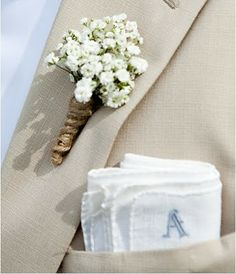 Wedding High: Buttonholes to inspire you! Baby breathes. Simple. Rustic.