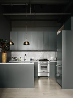 #lagerma: Inspiration: grey loft appartment in Brooklyn