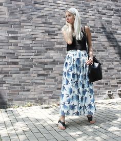 Ganni, Maxiskirt, Rock, Style, Summer, H&M, minimal, Look, lotd, ootd, Trend, Fashion, Blog, stryleTZ