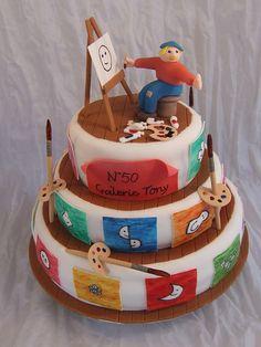 Tony's birthday cake by Crazy Cake - Cakedesigner57, via Flickr