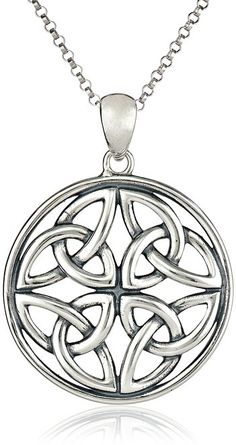 Sterling Silver Celtic Knot Pendant Necklace, 18""