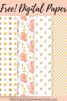 Free Digital Scrapbook Floral Paper Pack and Elements from Printables and Inspirations - GrannyEnchanted.Com