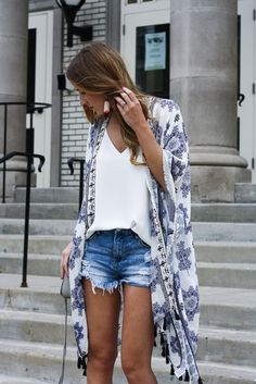 Kimono and Cutoffs | Twenties Girl Style