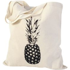 nBhaTTi Single Pineapple Tote Bag ($24) ❤ liked on Polyvore featuring bags, handbags, tote bags, fancy handbags, fancy purses, travel totes, travel purse and pink tote bag