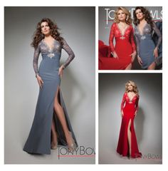 Free Shipping!! 2014 sexy V-Neck long sleeve evening dress custom made $134.99