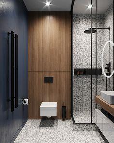 Warm flat on Behance Washroom Design, Toilet Design, Bathroom Design Luxury, Modern Bathroom Design, Modern Interior Design, Bathroom Toilets, Small Bathroom, Home Room Design, Bathroom Inspiration
