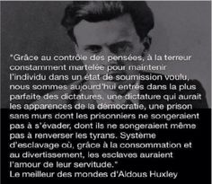 Huxley dénonce la dictature